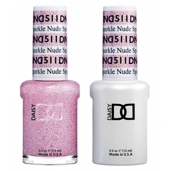 DND Daisy Gel Duo - Nude Sparkle #511-Gel Nail Polish + Lacquer-Universal Nail Supplies