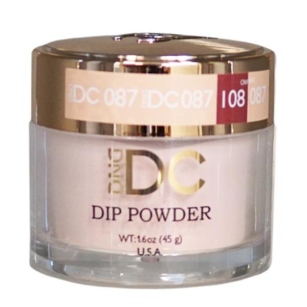 DND DC DIPPING POWDER - #087 Rose Powder-DND DC Dip Powder-Universal Nail Supplies