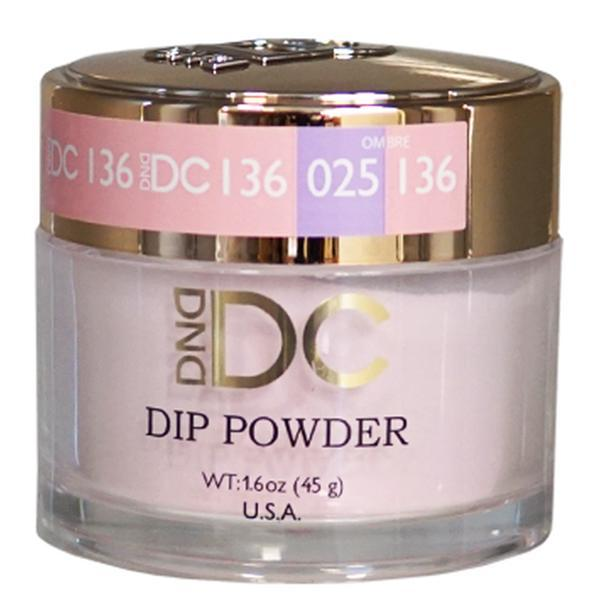 DND DC DIPPING POWDER - #136 Geranium Pink-DND DC Dip Powder-Universal Nail Supplies