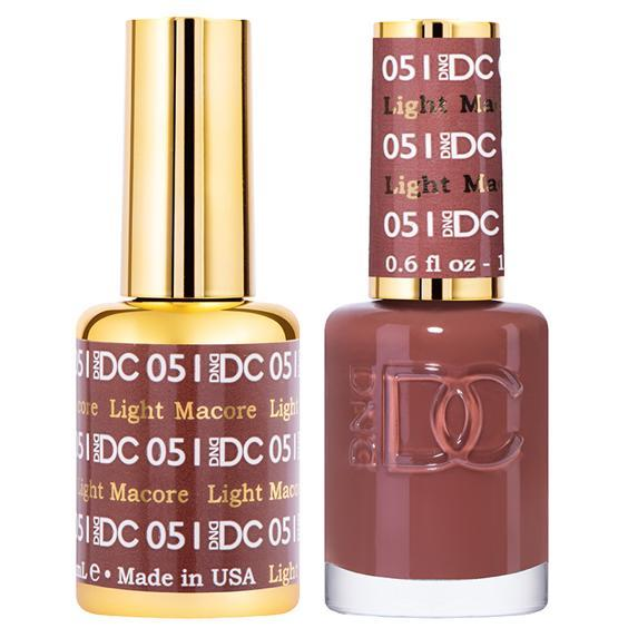 DND DC Gel Duo - Light Macore #051-Gel Nail Polish + Lacquer-Universal Nail Supplies