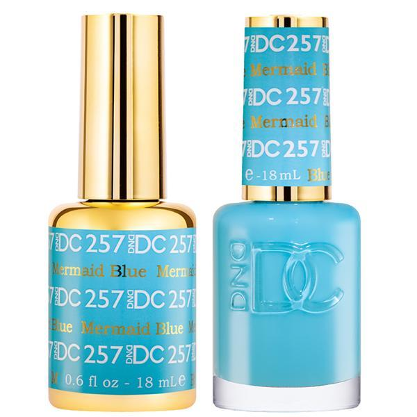 DND DC Gel Duo - Mermaid Blue #257-Gel Nail Polish + Lacquer-Universal Nail Supplies