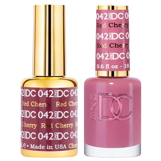 DND DC Gel Duo - Red Cherry #042-Gel Nail Polish + Lacquer-Universal Nail Supplies