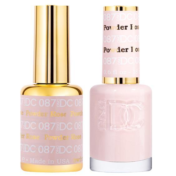 DND DC Gel Duo - Rose Powder #087-Gel Nail Polish + Lacquer-Universal Nail Supplies