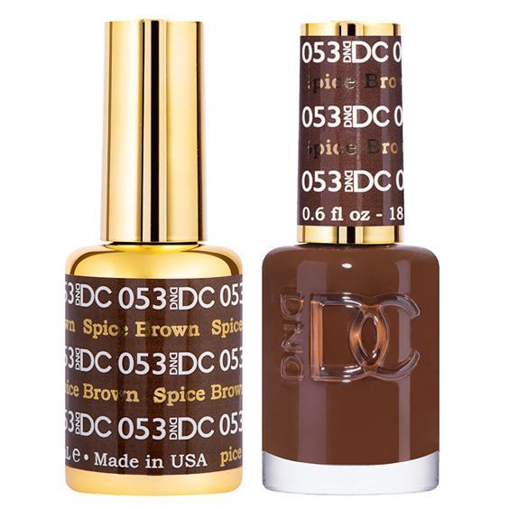 DND DC Gel Duo - Spiced Brown #053-Gel Nail Polish + Lacquer-Universal Nail Supplies