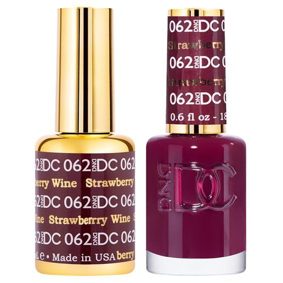 DND DC Gel Duo - Strawberry Wine #062-Gel Nail Polish + Lacquer-Universal Nail Supplies