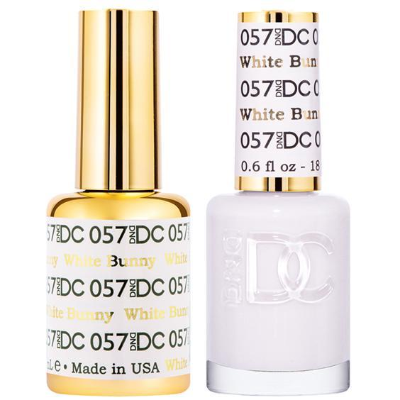 DND DC Gel Duo - White Bunny #057-Gel Nail Polish + Lacquer-Universal Nail Supplies