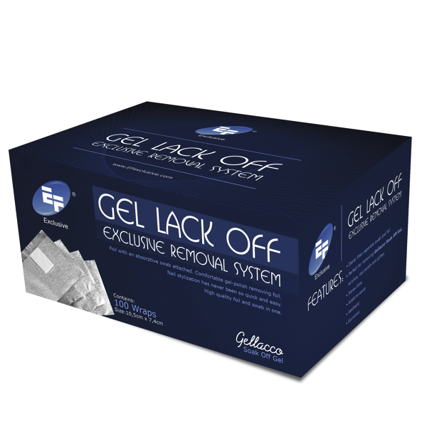 Gel Lack Off Exclusive Removal System 100 Wraps-Nail Tools-Universal Nail Supplies