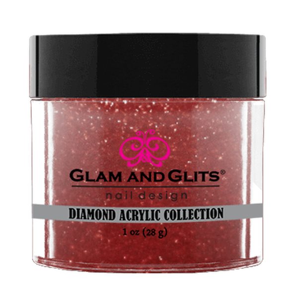 Glam and Glits Diamond Acrylic Collection - Ruby Red #DA89-Dipping Powder-Universal Nail Supplies