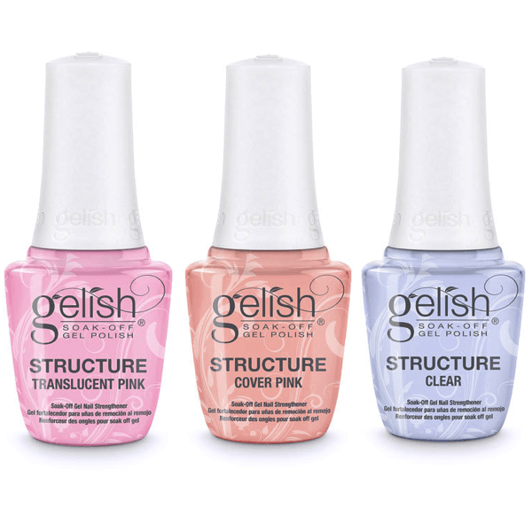 Harmony Gelish Structure - Translucent Pink, Cover Pink, & Clear-Gel Nail Polish-Universal Nail Supplies