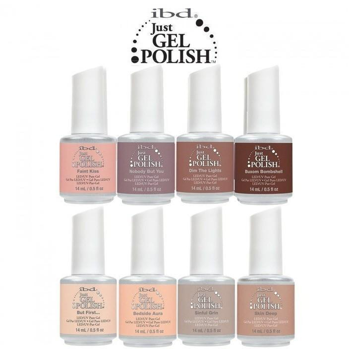 IBD Just Gel - Nude Collection Set Of 8-Gel Nail Polish-Universal Nail Supplies