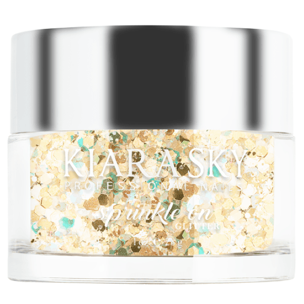 Kiara Sky 3D Sprinkle On Glitter - You're Golden, Baby! SP216-Powder-Universal Nail Supplies