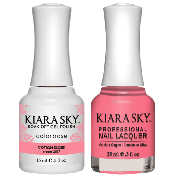 Kiara Sky Gel + Matching Lacquer - Cotton Kisses #537-Gel Nail Polish-Universal Nail Supplies