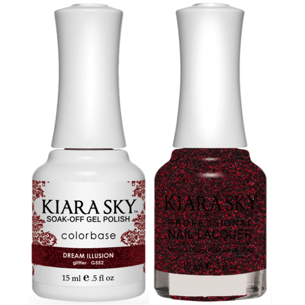 Kiara Sky Gel + Matching Lacquer - Dream Illusion #552-Gel Nail Polish-Universal Nail Supplies
