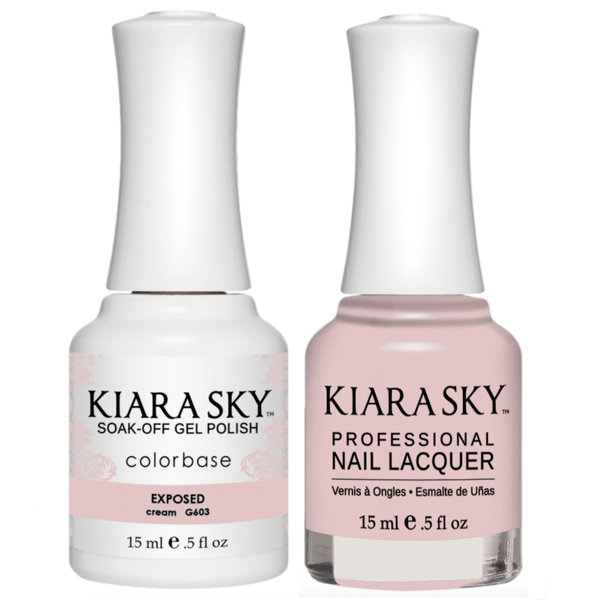 Kiara Sky Gel + Matching Lacquer - Exposed #603-Gel Nail Polish-Universal Nail Supplies