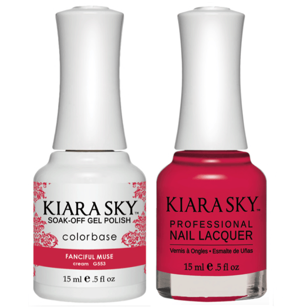 Kiara Sky Gel + Matching Lacquer - Fanciful Muse #553-Gel Nail Polish-Universal Nail Supplies