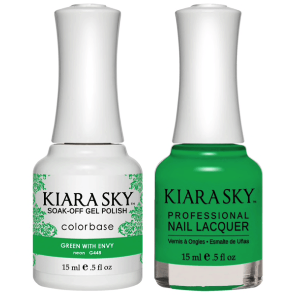 Kiara Sky Gel + Matching Lacquer - Green With Envy #448-Gel Nail Polish-Universal Nail Supplies