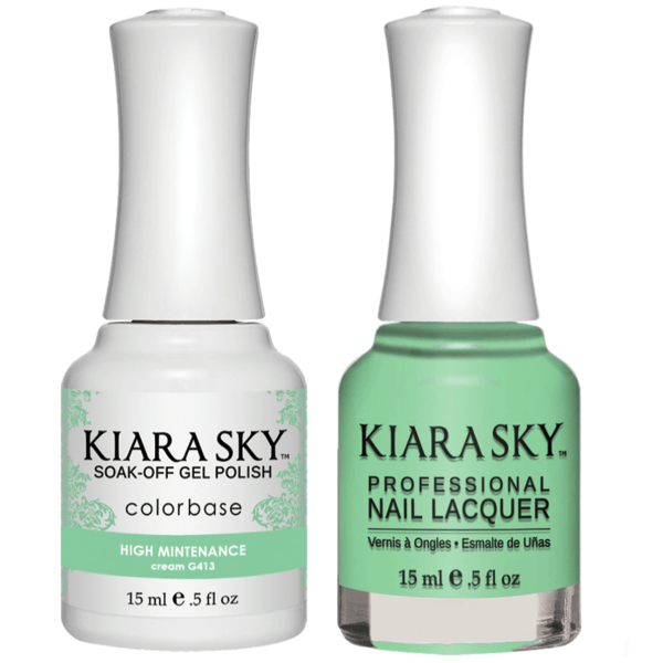 Kiara Sky Gel + Matching Lacquer - High Mintenance #413-Gel Nail Polish-Universal Nail Supplies