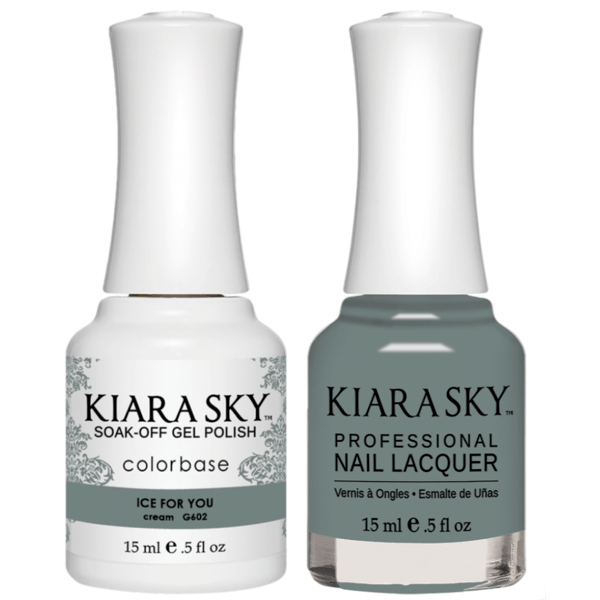 Kiara Sky Gel + Matching Lacquer - Ice For You #602-Gel Nail Polish-Universal Nail Supplies