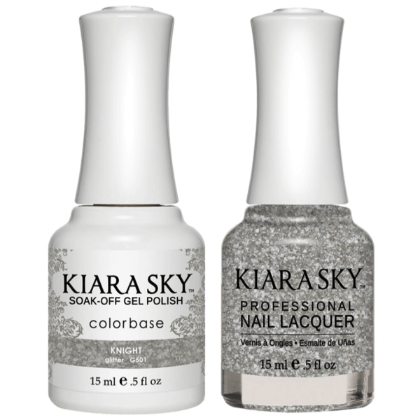 Kiara Sky Gel + Matching Lacquer - Knight #501-Gel Nail Polish-Universal Nail Supplies
