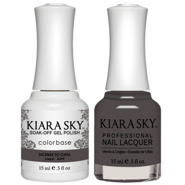 Kiara Sky Gel + Matching Lacquer - License To Chill #599-Gel Nail Polish-Universal Nail Supplies