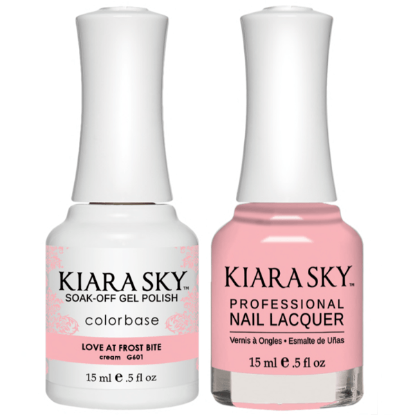 Kiara Sky Gel + Matching Lacquer - Love At Frost Bite #601-Gel Nail Polish-Universal Nail Supplies