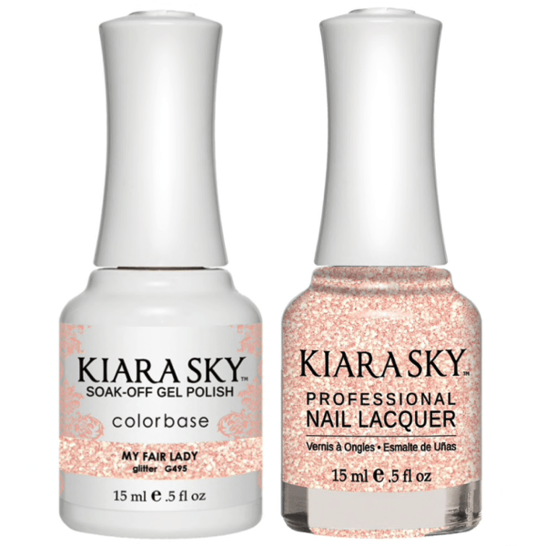 Kiara Sky Gel + Matching Lacquer - My Fair Lady #495-Gel Nail Polish-Universal Nail Supplies