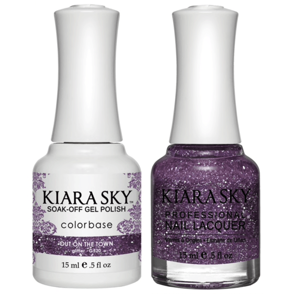 Kiara Sky Gel + Matching Lacquer - Out On The Town #520-Gel Nail Polish-Universal Nail Supplies