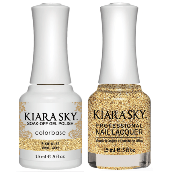 Kiara Sky Gel + Matching Lacquer - Pixie Dust #554-Gel Nail Polish-Universal Nail Supplies