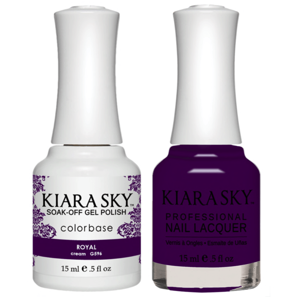 Kiara Sky Gel + Matching Lacquer - Royal #596-Gel Nail Polish-Universal Nail Supplies