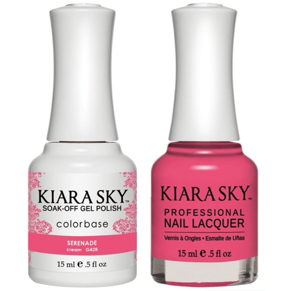 Kiara Sky Gel + Matching Lacquer - Serenade #428-Gel Nail Polish-Universal Nail Supplies