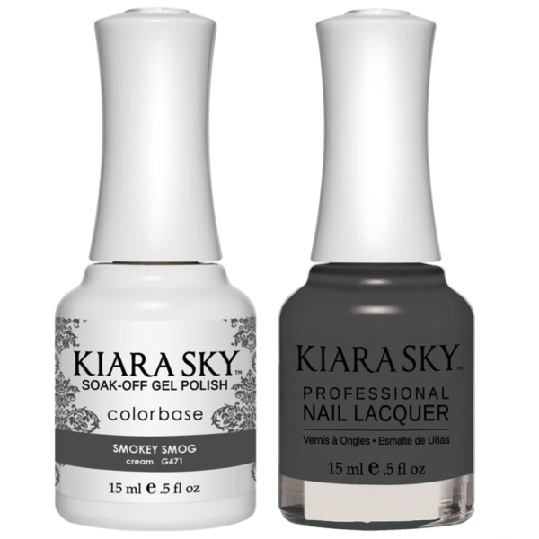 Kiara Sky Gel + Matching Lacquer - Smokey Smog #471-Gel Nail Polish-Universal Nail Supplies