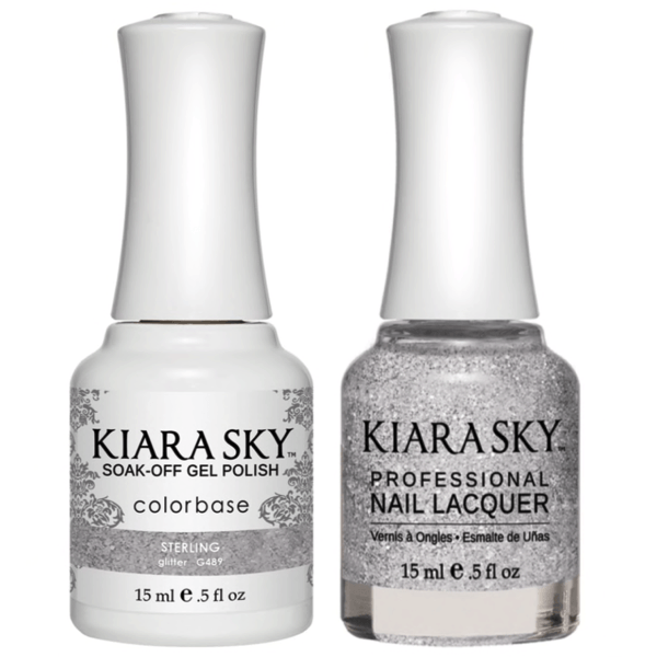 Kiara Sky Gel + Matching Lacquer - Sterling #489-Gel Nail Polish-Universal Nail Supplies
