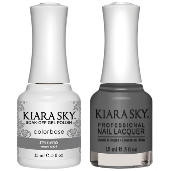 Kiara Sky Gel + Matching Lacquer - Styleletto #434-Gel Nail Polish-Universal Nail Supplies