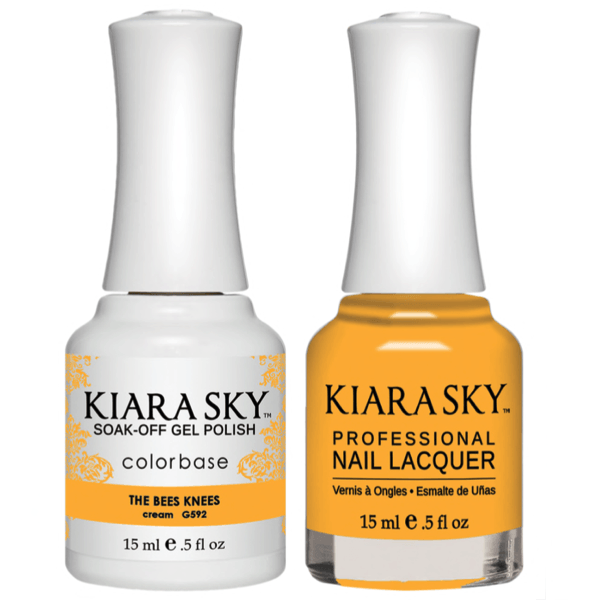 Kiara Sky Gel + Matching Lacquer - The Bees Knees #592-Gel Nail Polish-Universal Nail Supplies