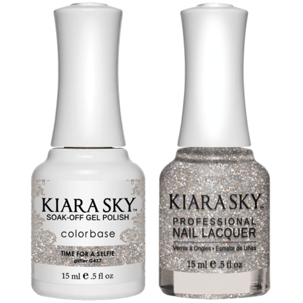 Kiara Sky Gel + Matching Lacquer - Time For A Selfie #437-Gel Nail Polish-Universal Nail Supplies