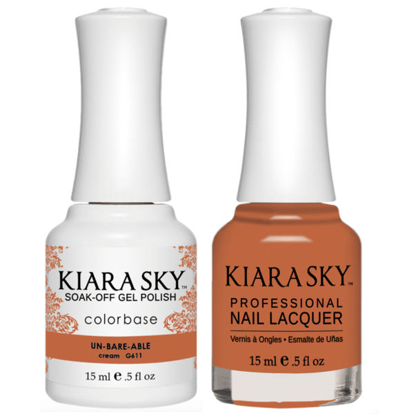 Kiara Sky Gel + Matching Lacquer - Un-Bare-Able #611-Gel Nail Polish-Universal Nail Supplies