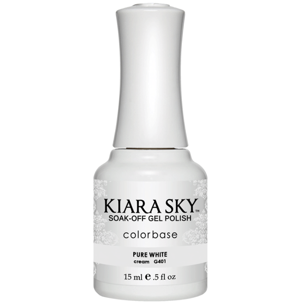 Kiara Sky Gel Polish - Pure White #G401-Gel Nail Polish-Universal Nail Supplies