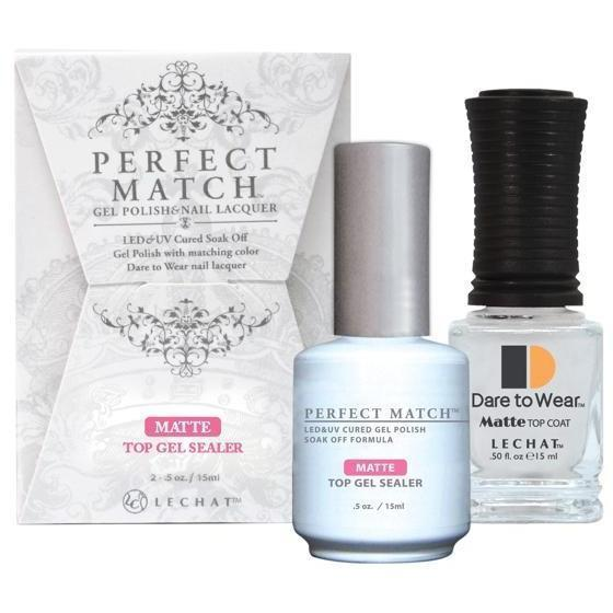 LeChat Perfect Match Gel + Matching Lacquer Matte Top Gel Sealer-Gel Nail Polish + Lacquer-Universal Nail Supplies