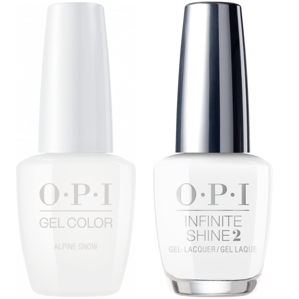 OPI GelColor Alpine Snow #L00 + Infinite Shine #L00-Gel Nail Polish + Lacquer-Universal Nail Supplies
