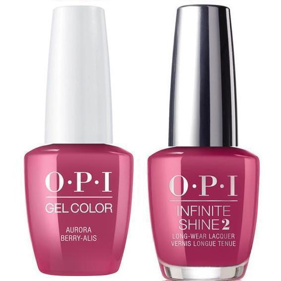 OPI GelColor Aurora Berry-Alis #I64 + Infinite Shine #I64-Gel Nail Polish + Lacquer-Universal Nail Supplies