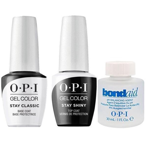 OPI GelColor Base & Top Coat + Bondaid pH Balancing-Gel Nail Polish-Universal Nail Supplies
