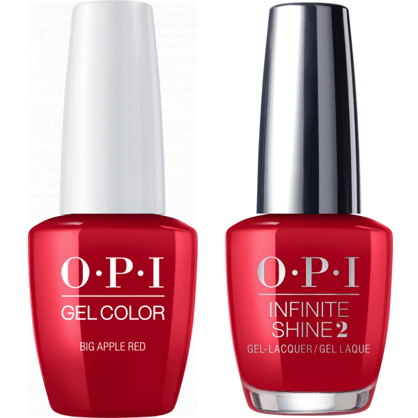 OPI GelColor Big Apple Red #N25 + Infinite Shine #N25-Gel Nail Polish + Lacquer-Universal Nail Supplies