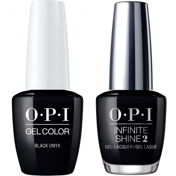 OPI GelColor Black Onyx #T02 + Infinite Shine #T02-Gel Nail Polish + Lacquer-Universal Nail Supplies