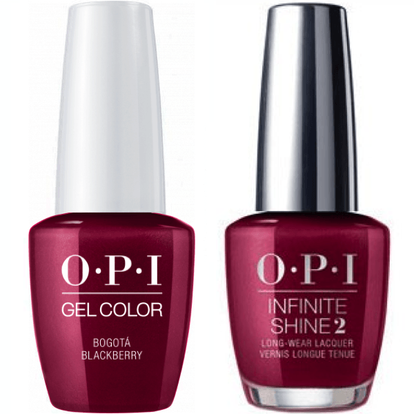 OPI GelColor Bogota Blackberry #F52 + Infinite Shine #F52-Gel Nail Polish + Lacquer-Universal Nail Supplies
