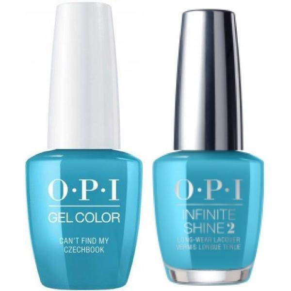 OPI GelColor Can't Find My Czechbook #E75 + Infinite Shine #E75-Gel Nail Polish + Lacquer-Universal Nail Supplies