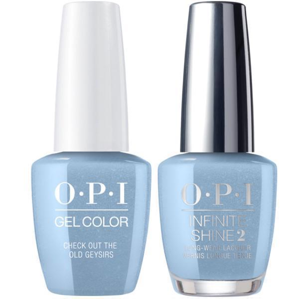 OPI GelColor Check Out the Old Geysirs #I60 + Infinite Shine #I60-Gel Nail Polish + Lacquer-Universal Nail Supplies