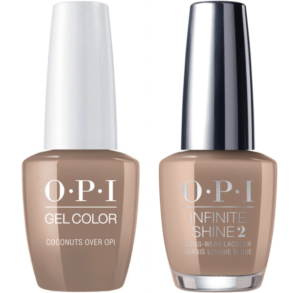 OPI GelColor Coconuts Over OPI #F89 + Infinite Shine #F89-Gel Nail Polish + Lacquer-Universal Nail Supplies