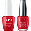 OPI GelColor Color So Hot It Berns #Z13 + Infinite Shine #Z13-Gel Nail Polish + Lacquer-Universal Nail Supplies