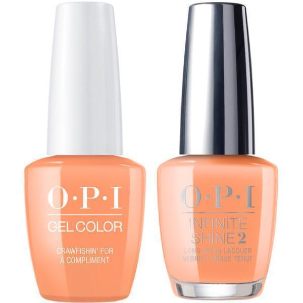 OPI GelColor Crawfishin' For A Compliment #N58 + Infinite Shine #N58-Gel Nail Polish + Lacquer-Universal Nail Supplies