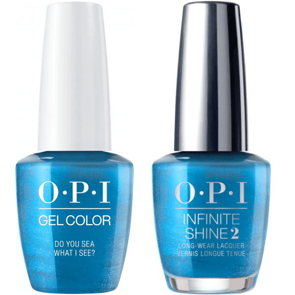 OPI GelColor Do You Sea What I Sea? #F84 + Infinite Shine #F84-Gel Nail Polish + Lacquer-Universal Nail Supplies